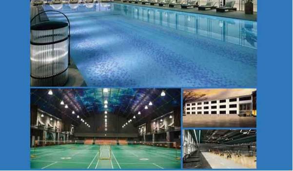 骏伟体育国标恒温双泳池➕赛级羽毛球馆综合健身房