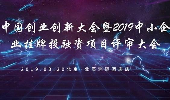 中国创业创新大会暨2019中小企业挂牌投融资项目评审大会