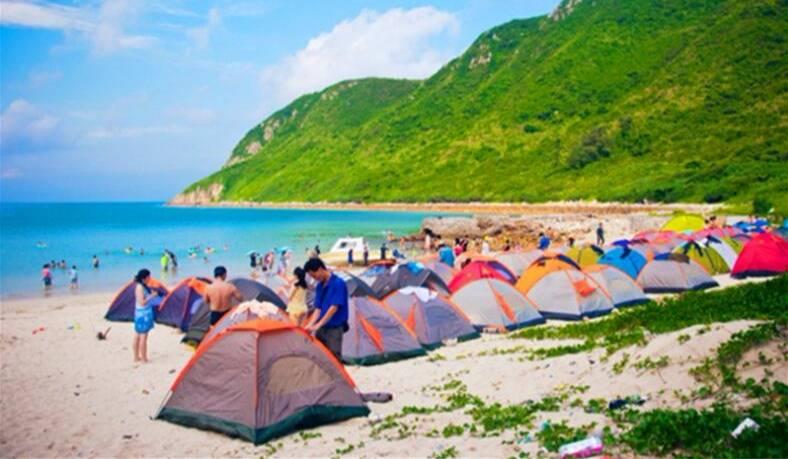 2天游~惠东三门岛露营、烧烤、月亮湾沙滩、快艇冲浪、登海誓山盟峰