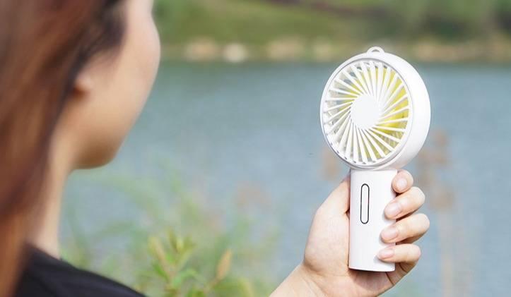 【充电头网试用487期】奥睿科(ORICO) USB手持台式小风扇 白色(5台)